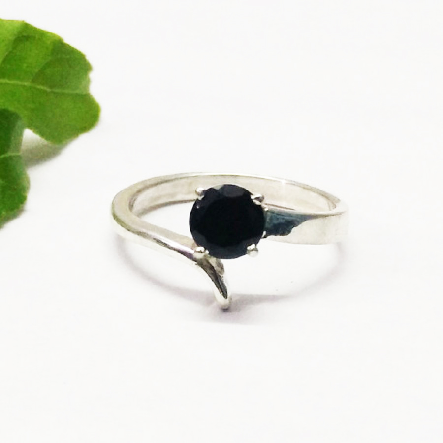 Exclusive NATURAL BLACK TOURMALINE Gemstone Ring, Birthstone Ring, 925 Sterling Silver Ring, Fashion Handmade Ring, All Ring Size, Gift Ring