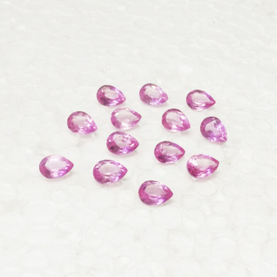 Attractive PINK TOPAZ Gemstone, AAA Quality Faceted Gemstone, Size 8x6 mm Pear & 1.65 ct Weight Per Piece, Pink Gemstone, Loose Gemstones
