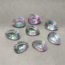Exotic MIDNIGHT MYSTIC TOPAZ Gemstone, AAA Quality Faceted Gemstone, Size 14x10 mm Pear & 5.85 ct Weight Per Piece, Multicolor Gemstone, Loose Gemstones