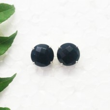 Attractive BLACK ONYX Gemstone Earrings, Birthstone Earrings, 925 Sterling Silver Earrings, Fashion Handmade Earrings, Stud Earrings, Gift Earrings