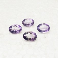 Genuine NATURAL BRAZILIAN PURPLE AMETHYST Gemstone, AAA Quality Faceted Gemstone, Size 14x10 mm Oval & 5.60 ct Weight Per Piece, Loose Gemstones
