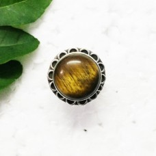 Awesome NATURAL TIGER EYE Gemstone Ring, Birthstone Ring, 925 Sterling Silver Ring, Fashion Handmade Ring, All Ring Size, Gift Ring