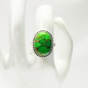 Exclusive NATURAL GREEN COPPER TURQUOISE Gemstone Ring, Birthstone Ring, 925 Sterling Silver Ring, Fashion Handmade Ring, All Ring Size, Gift Ring