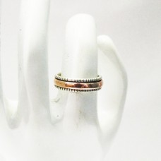 Awesome TWO TONE Designer Ring, 925 Sterling Silver Ring, Fashion Handmade Ring,, All Ring Size, Gift Ring, Spinner Ring, Rose Gold Plating