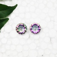 Beautiful MIDNIGHT MYSTIC TOPAZ Gemstone Earrings, Birthstone Earrings, 925 Sterling Silver Earrings, Fashion Handmade Earrings, Stud Earrings, Gift Earrings