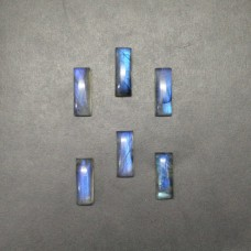 Excellent NATURAL BLUE FIRE LABRADORITE Gemstone, AAA Quality Cabochon Gemstone, Size 19x7 mm Rectangle & 7.55 ct Weight, Black Rainbow, Loose Gemstones