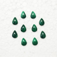Beautiful NATURAL MALACHITE Gemstone, AAA Quality Cabochon Gemstone, Size 14x10 mm Pear & 6.90 ct Weight Per Piece, Green Gemstone, Loose Gemstones