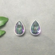 Exotic MIDNIGHT MYSTIC TOPAZ Gemstone Earrings, Birthstone Earrings, 925 Sterling Silver Earrings, Fashion Handmade Earrings, Stud Earrings, Gift Earrings