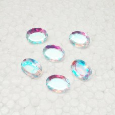 Awesome RAINBOW MYSTIC Gemstone, AAA Quality Faceted Gemstone, Size 18x13 mm Oval & 9.70 Ct Weight Per Piece, Multicolor Gemstone, Loose Gemstones