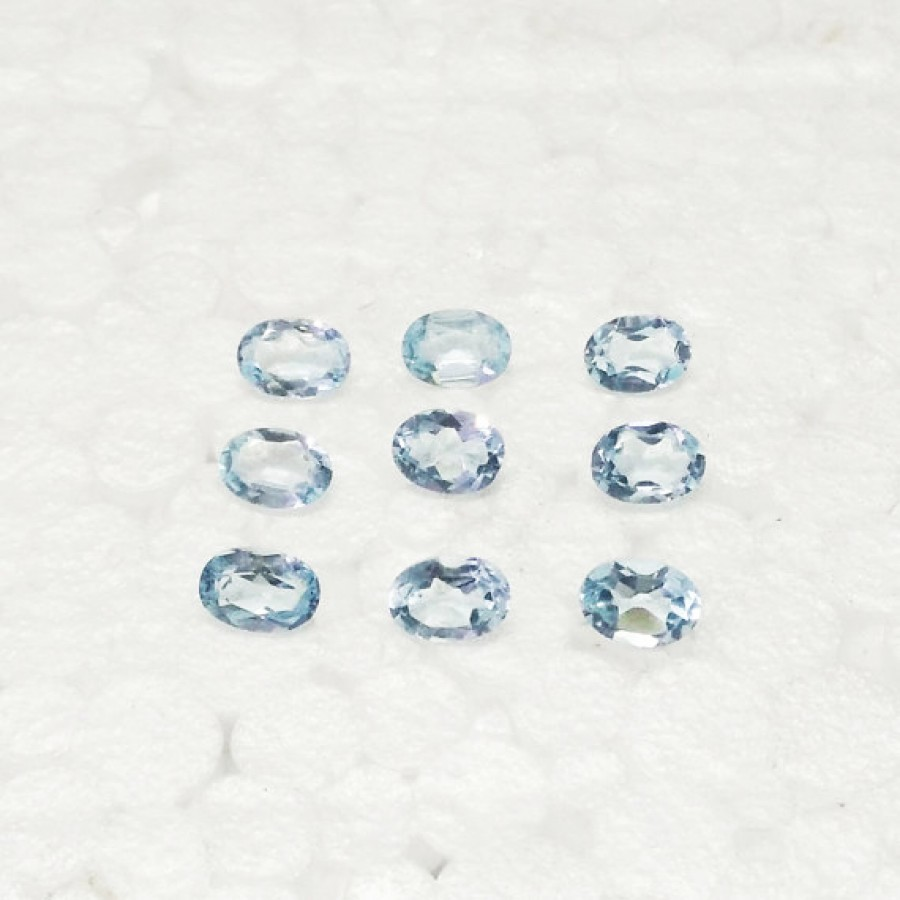 Amazing NATURAL SKY BLUE TOPAZ Gemstone, AAA Quality Faceted Gemstone, Size 7x5 mm Oval & 0.80 ct Weight Per Piece, Blue Gemstone, Loose Gemstones