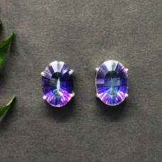 Awesome MIDNIGHT MYSTIC TOPAZ Gemstone Earrings, Birthstone Earrings, 925 Sterling Silver Earrings, Fashion Handmade Earrings, Stud Earrings, Gift Earrings