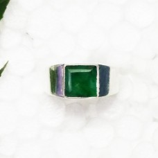 Awesome NATURAL INDIAN EMERALD Gemstone Ring, Birthstone Ring, 925 Sterling Silver Ring, Fashion Handmade Ring, All Ring Size, Gift Ring