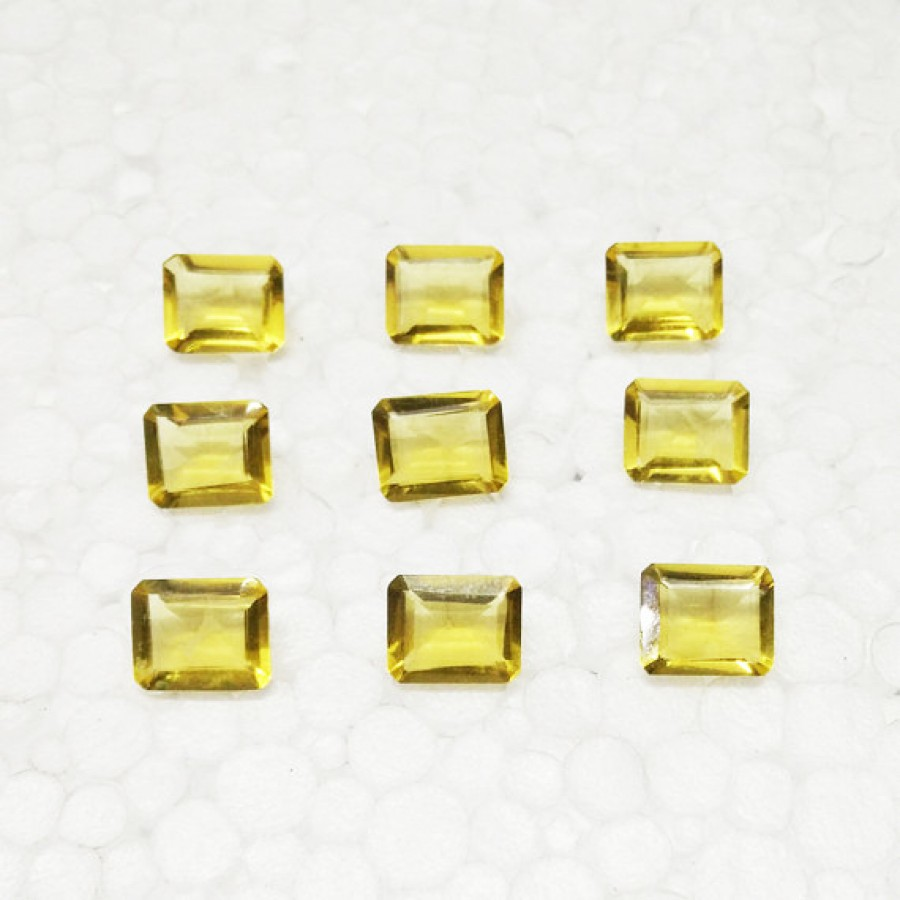 Attractive YELLOW CITRINE Gemstone, AAA Quality Faceted Gemstone, Size 11x9 mm Octagon & 3.45 ct Weight Per Piece, Yellow Gemstone, Loose Gemstones