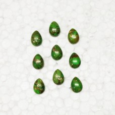 Amazing NATURAL GREEN COPPER TURQUOISE Gemstone, AAA Quality Cabochon Gemstone, Size 12x9 mm Pear & 4.40 ct Weight Per Piece, Green Gemstone, Loose Gemstones