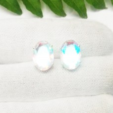 Gorgeous RAINBOW MYSTIC Gemstone Earrings, Birthstone Earrings, 925 Sterling Silver Earrings, Fashion Handmade Earrings, Stud Earrings, Gift Earrings