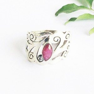 Beautiful NATURAL INDIAN RUBY Gemstone Ring, Birthstone Ring, 925 Sterling Silver Ring, Fashion Handmade Ring, All Size, Gift Ring