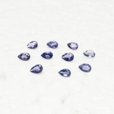 Genuine NATURAL IOLITE Gemstone, AAA Quality Faceted Gemstone, Size 6x4 mm Pear & 0.36 ct Weight Per Piece, Blue Gemstone, Loose Gemstones