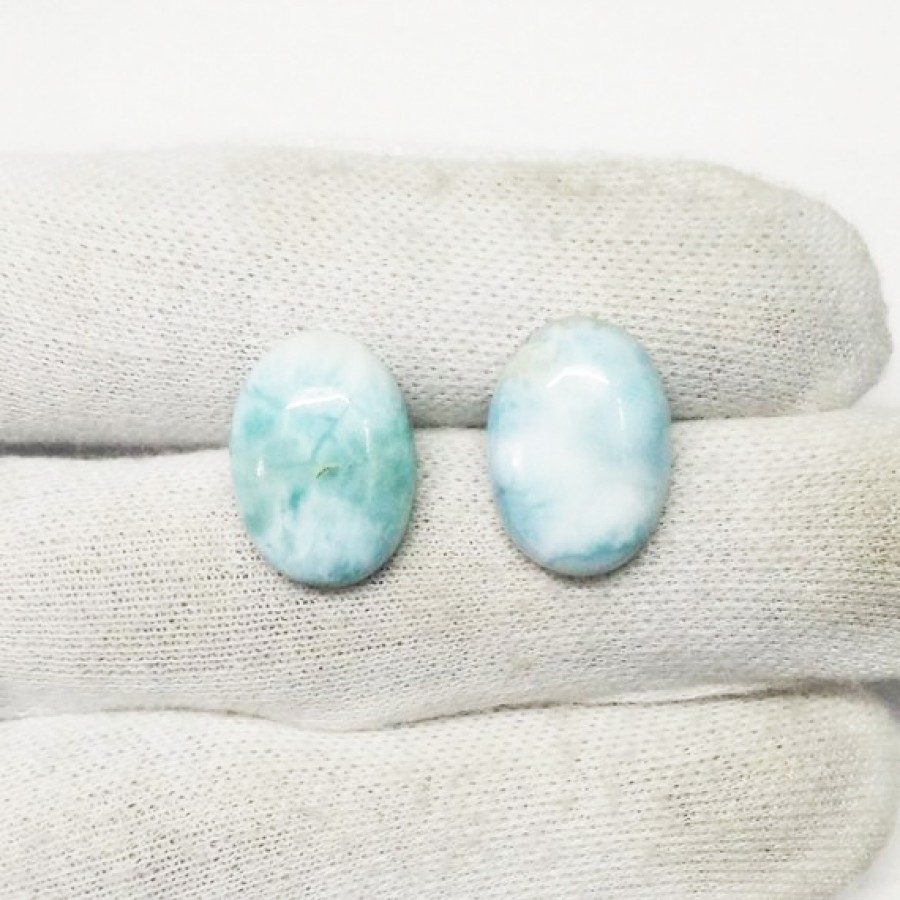 Amazing NATURAL DOMINICAN LARIMAR Gemstone, AAA Quality Cabochon Gemstone, Size 18x13 mm Oval & 12.50 ct Weight Per Piece, Blue Gemstone, Loose Gemstones