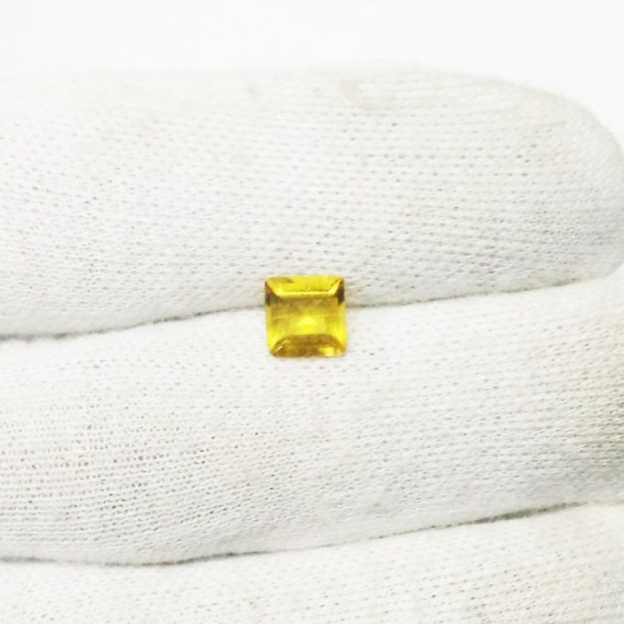 Awesome YELLOW CITRINE Gemstone, AAA Quality Faceted Gemstone, Size 7x7 mm Square & 1.15 ct Weight Per Piece, Yellow Gemstone, Loose Gemstones