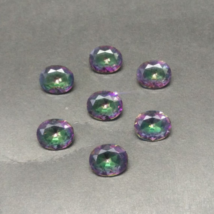 Beautiful MIDNIGHT MYSTIC TOPAZ Gemstone, AAA Quality Faceted Gemstone, Size 11x9 mm Oval & 2.80 ct Weight Per Piece, Multicolor Gemstone, Loose Gemstones
