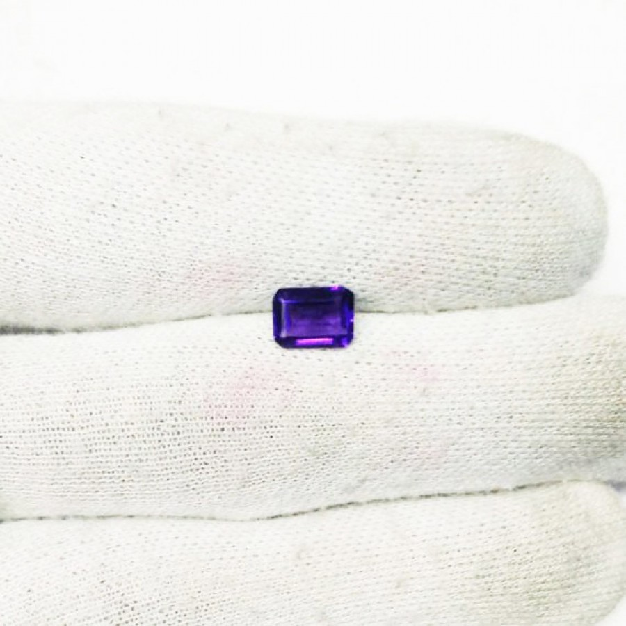 Gorgeous AFRICAN PURPLE AMETHYST Gemstone, AAA Quality Faceted Gemstone, Size 8x6 mm Octagon & 1.60 ct Weight, Purple Gemstone, Loose Gemstones