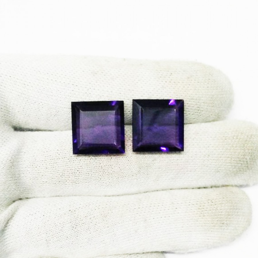Gorgeous PURPLE AMETHYST Gemstone, AAA Quality Faceted Gemstone, Size 15x15 mm Square & 12 ct Weight, Purple Gemstone, Loose Gemstones