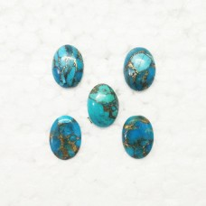 Amazing NATURAL BLUE COPPER TURQUOISE Gemstone, AAA Quality Cabochon Gemstone, Size 18x13 mm Oval & 10.20 ct Weight Per Piece, Blue Gemstone, Loose Gemstones