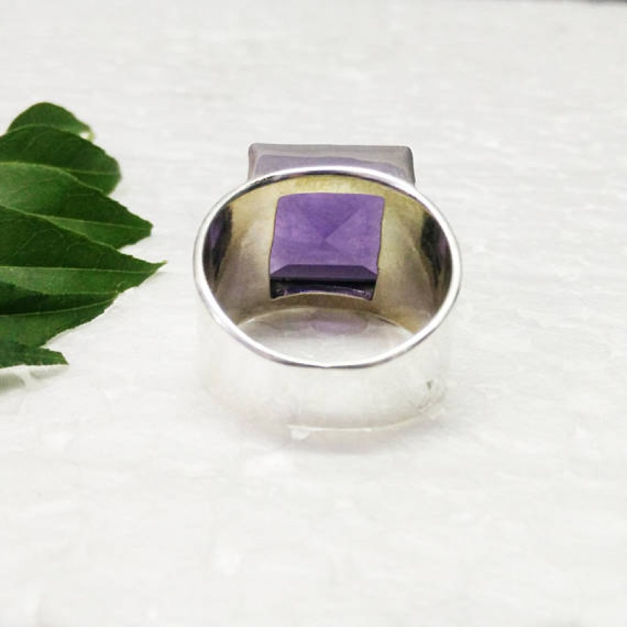 Amazing AFRICAN PURPLE AMETHYST Gemstone Ring, Birthstone Ring, 925 Sterling Silver Ring, Fashion Handmade Ring, All Ring Size, Gift Ring