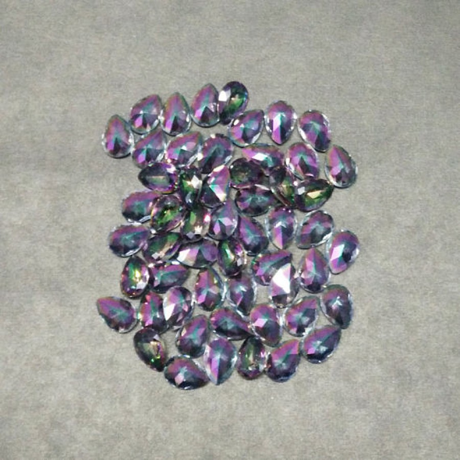 Amazing MIDNIGHT MYSTIC TOPAZ Gemstone, AAA Quality Faceted Gemstone, Size 9x7 mm Pear & 1.40 ct Weight Per Piece, Multicolor Gemstone, Loose Gemstones