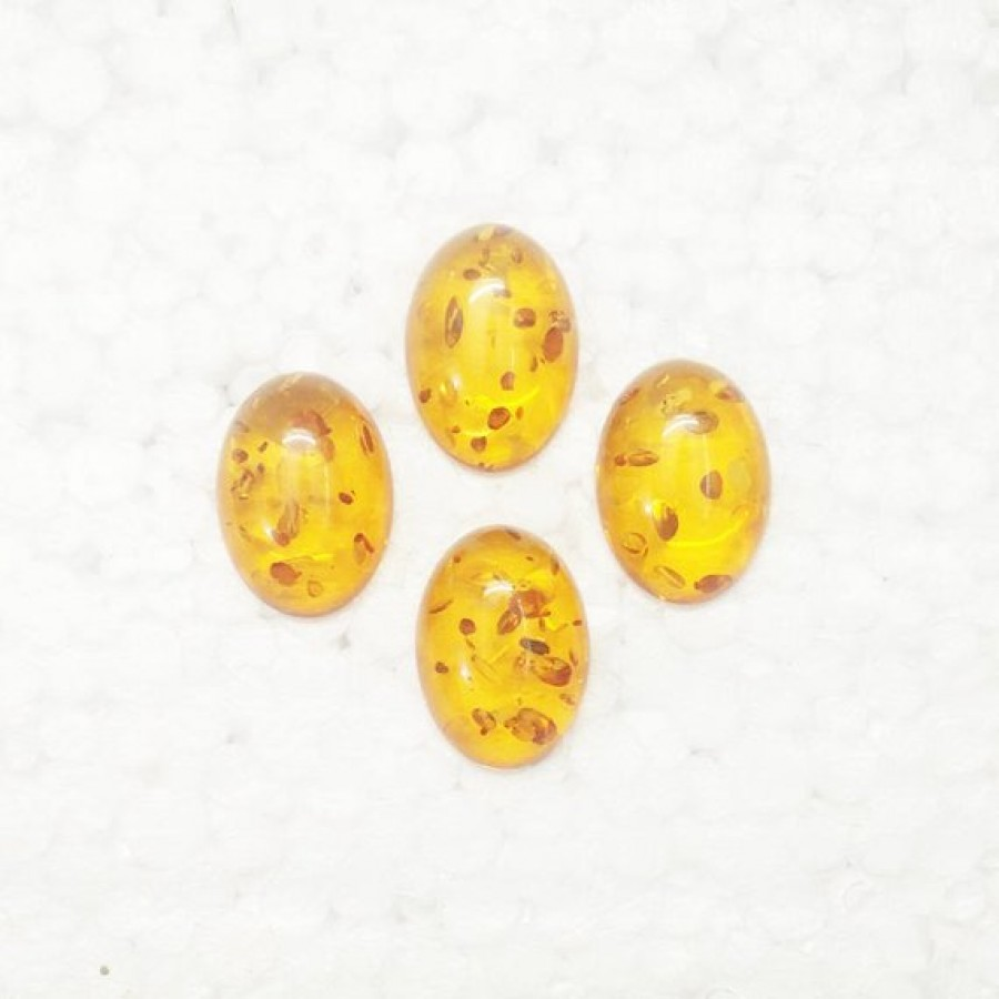 Beautiful BALTIC AMBER Gemstone, AAA Quality Cabochon Gemstone, Size 25x18 mm Oval & 11.60 ct Weight Per Piece, Orange Gemstone, Loose Gemstones