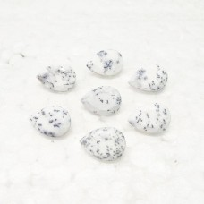 Awesome NATURAL DENDRITIC OPAL Gemstone, AAA Quality Faceted Gemstone, Size 14x10 mm Pear & 3.90 ct Weight Per Piece, White Gemstone, Loose Gemstones