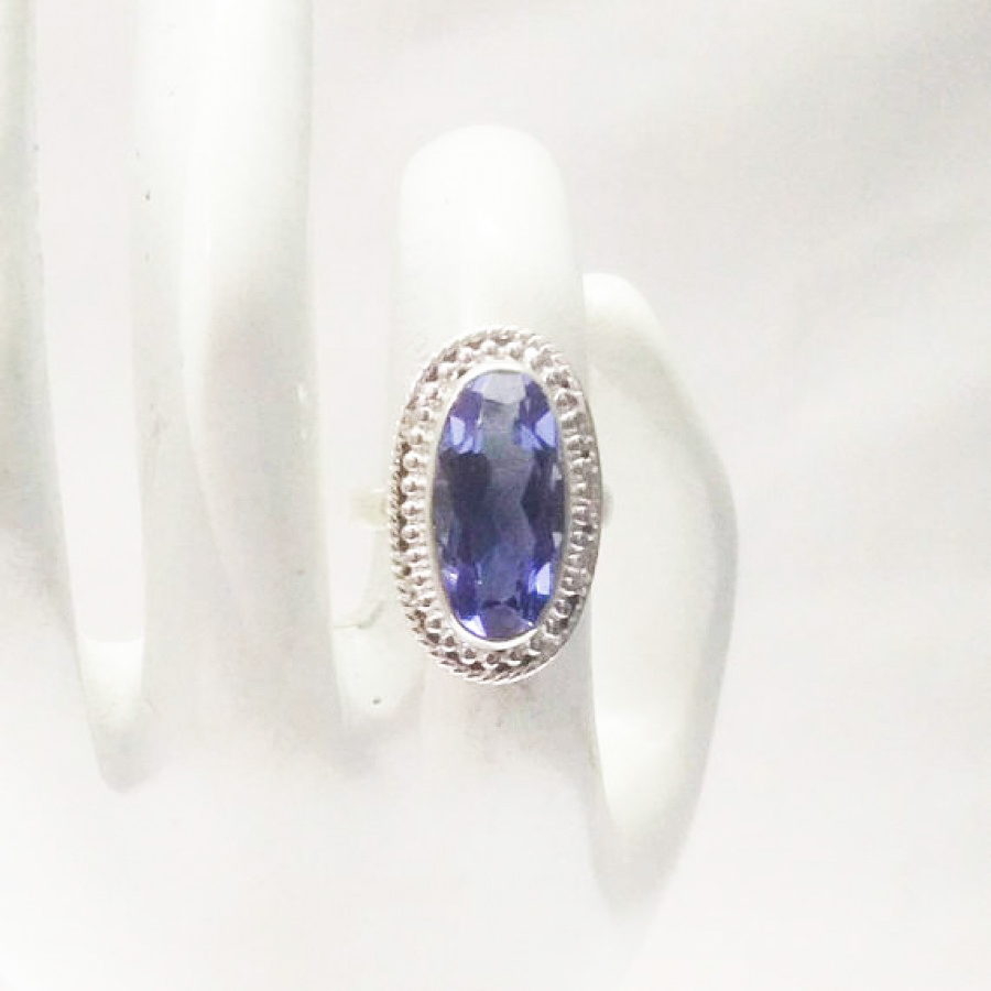 Beautiful BLUE IOLITE Gemstone Ring, Birthstone Ring, 925 Sterling Silver Ring, Fashion Handmade Ring, All Ring Size, Gift Ring, Artisan Jewelry
