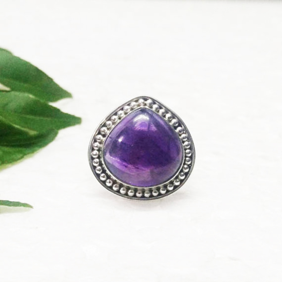 Awesome NATURAL PURPLE AMETHYST Gemstone Ring, Birthstone Ring, 925 Sterling Silver Ring, Fashion Handmade Ring, All Ring Size, Gift Ring