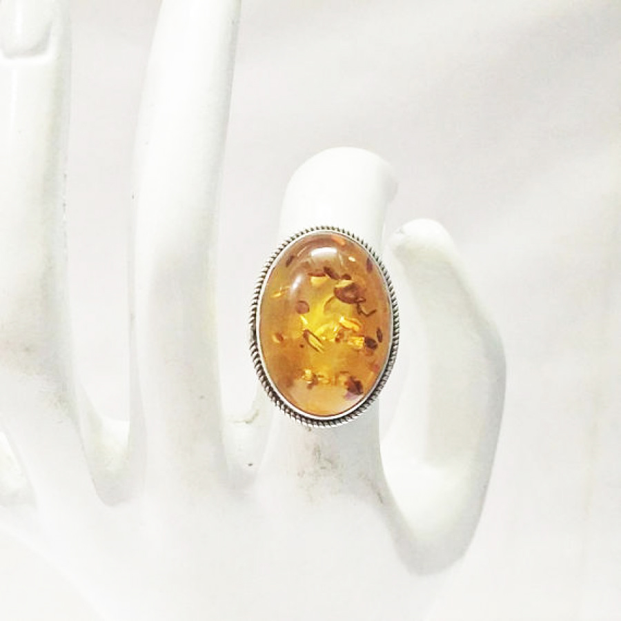 Beautiful BALTIC AMBER Gemstone Ring, Birthstone Ring, 925 Sterling Silver Ring, Fashion Handmade Ring, All Ring Size, Gift Ring
