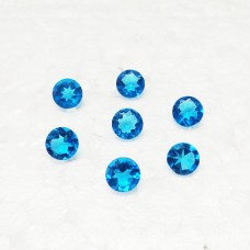 Gorgeous LONDON BLUE TOPAZ Gemstone, AAA Quality Faceted Gemstone, Size 4x4 mm Round & 0.20 ct Weight Per Piece, Blue Gemstone, Loose Gemstones