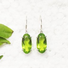 Gorgeous GREEN PERIDOT Gemstone Earrings, Birthstone Earrings, 925 Sterling Silver Earrings, Fashion Handmade Earrings, Dangle Earrings, Gift Earrings
