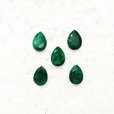 Awesome NATURAL INDIAN EMERALD Gemstone, AAA Quality Faceted Gemstone, Size 14x10 mm Pear & 7.60 ct Weight Per Piece, Green Gemstone, Loose Gemstones