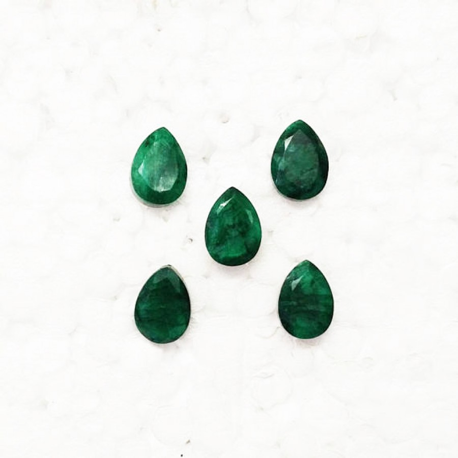 zirconia emerald store good grad synthetic cz cubic gemstone cut quality product loose aaa green pear for jewelry