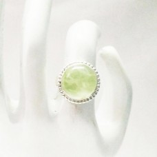 Awesome NATURAL PREHNITE Gemstone Ring, Birthstone Ring, 925 Sterling Silver Ring, Fashion Handmade Ring, All Ring Size, Gift Ring