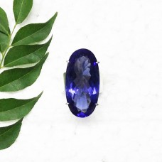 Exclusive BLUE IOLITE Gemstone Ring, Birthstone Ring, 925 Sterling Silver Ring, Fashion Handmade Ring, All Ring Size, Gift Ring, Artisan Jewelry