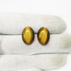 Genuine NATURAL TIGER EYE Gemstone, AAA Quality Cabochon Gemstone, Size 18x13 mm Oval & 13.90 ct Weight Per Piece, Brown Gemstone, Loose Gemstones