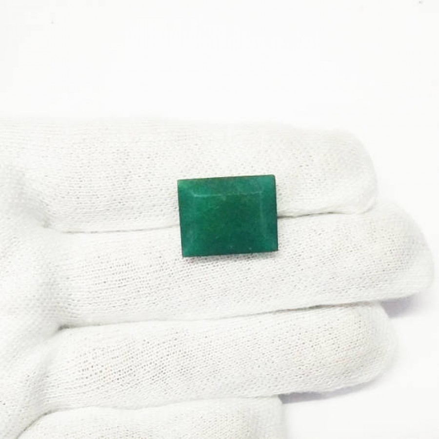 aaa index size awesome natural ct indian faceted mm rectangle emerald il quality gemstone