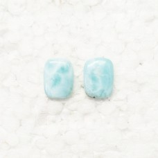 Amazing NATURAL DOMINICAN LARIMAR Gemstone, AAA Quality Cabochon Gemstone, Size 19x14 mm Rectangle & 14.0 ct Weight Per Piece, Blue Gemstone, Loose Gemstones