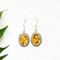 Awesome BALTIC AMBER Gemstone Earrings, Birthstone Earrings, 925 Sterling Silver Earrings, Fashion Handmade Earrings, Dangle Earrings, Gift Earrings