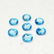 Attractive SWISS BLUE TOPAZ Gemstone, AAA Quality Faceted Gemstone, Size 11x9 mm Oval & 3.40 ct Weight Per Piece, Blue Gemstone, Loose Gemstones