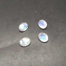 Gorgeous NATURAL BLUE FIRE RAINBOW MOONSTONE Gemstone, AAA Quality Faceted Gemstone, Size 10x8 mm Oval & 2.40 ct Weight Per Piece, White Rainbow, Loose Gemstones