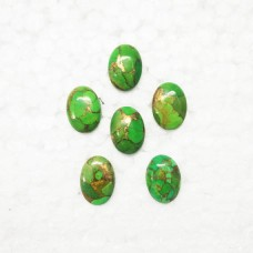 Exotic NATURAL GREEN COPPER TURQUOISE Gemstone, AAA Quality Cabochon Gemstone, Size 18x13 mm Oval & 11.50 ct Weight Per Piece,Green Gemstone, Loose Gemstones