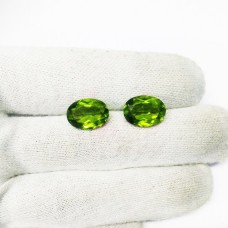 Amazing GREEN PERIDOT Gemstone, AAA Quality Faceted Gemstone, Size 14x10 mm Oval & 5.40 ct Weight Per Piece, Green Gemstone, Loose Gemstones