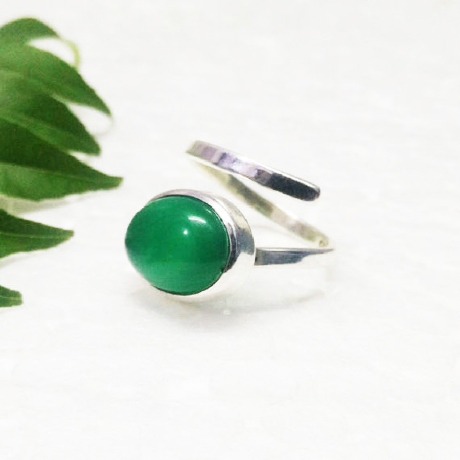 Beautiful GREEN ONYX Gemstone Ring, Birthstone Ring, 925 Sterling Silver Ring, Fashion Handmade Ring, All Ring Size, Gift Ring, Adjustable Ring