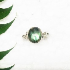 Awesome NATURAL FIRE LABRADORITE Gemstone Ring, Birthstone Ring, 925 Sterling Silver Ring, Fashion Handmade Ring, All Ring Size, Gift Ring